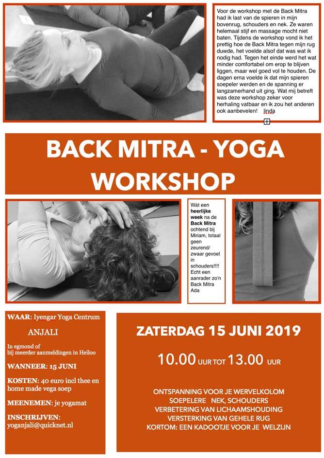 Workshop Back Mitra Yoga Heiloo 2019